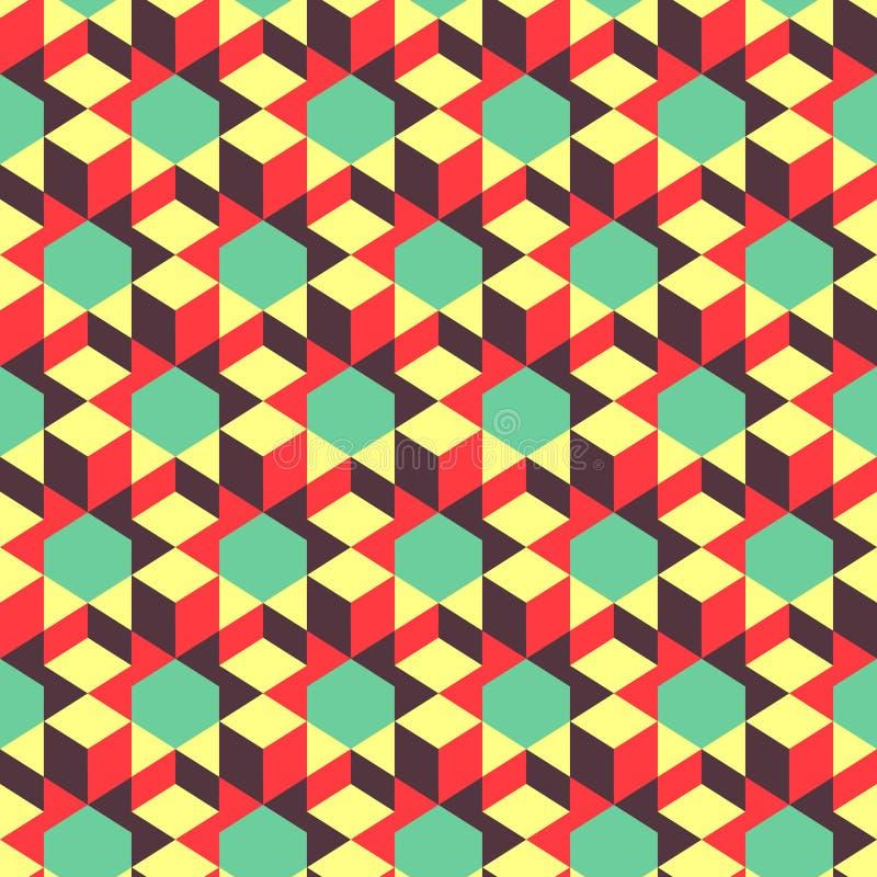 Fundo 3d geométrico abstrato mosaic Vetor ilustração royalty free