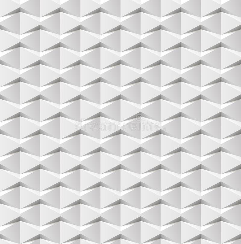 Fundo 3d geométrico branco abstrato Textura sem emenda branca com sombra Textura branca limpa simples do fundo wal 3D interior ilustração royalty free