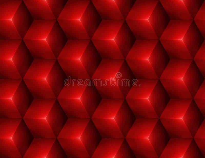 fundo 3d sem emenda abstrato com cubos vermelhos ilustração royalty free