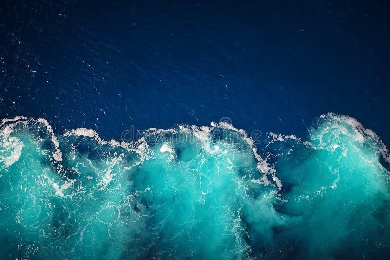 Fundo da água do oceano da onda imagem de stock