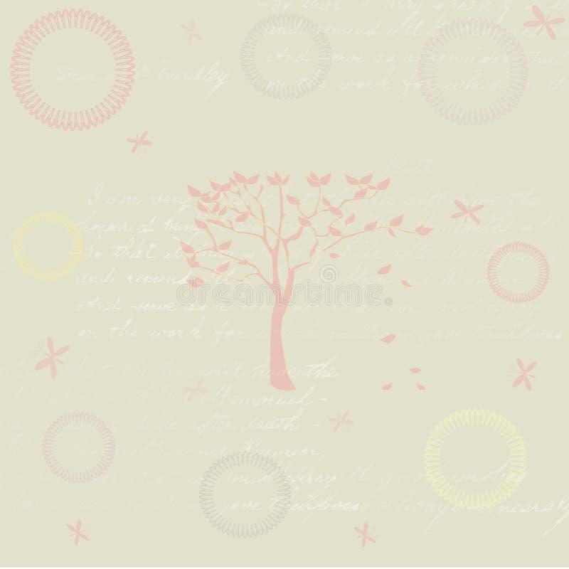 Fundo da árvore ilustração stock