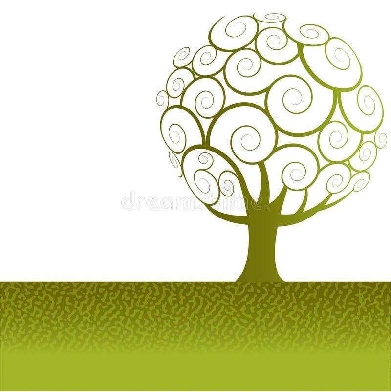 Fundo da árvore ilustração royalty free