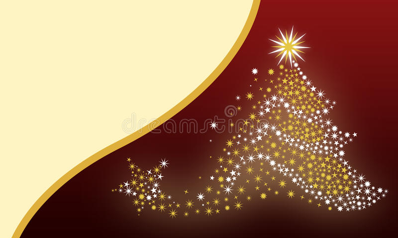 Fundo da árvore de Natal ilustração royalty free
