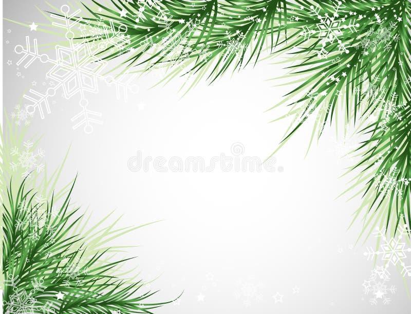 Fundo da árvore de Natal ilustração do vetor