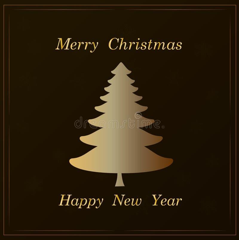 Fundo da árvore de Natal - beleza conservada em estoque da decoração da arte ilustração royalty free