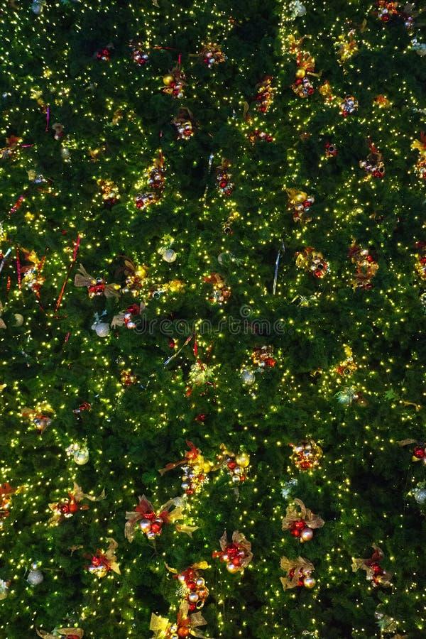 Fundo da árvore de Natal do close-up fotos de stock royalty free