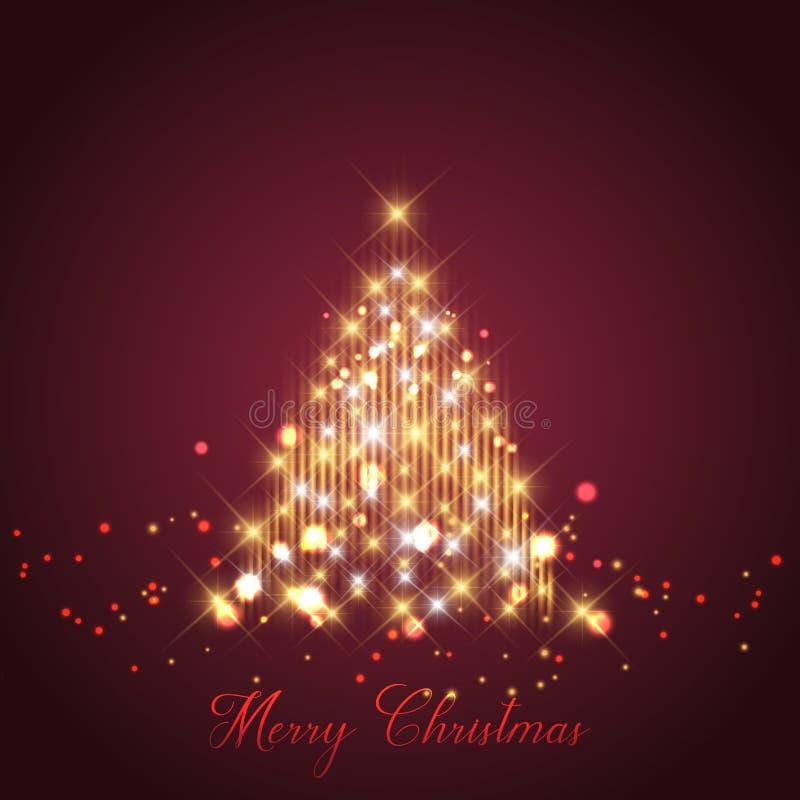 Fundo da árvore de Natal da faísca ilustração stock