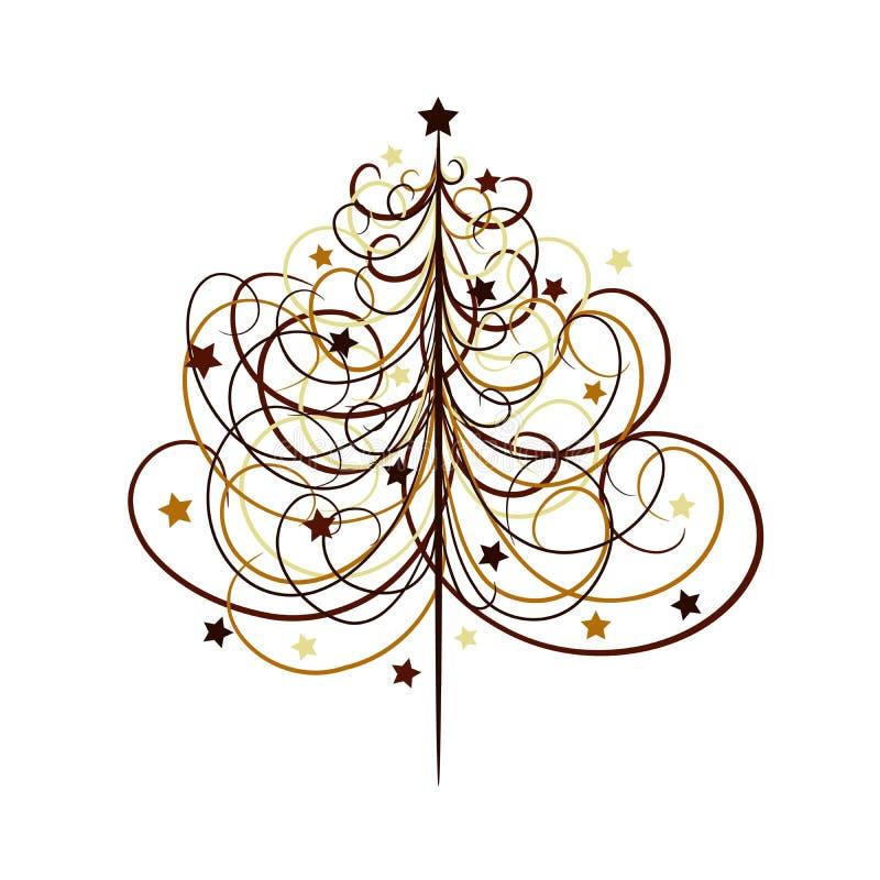 Fundo da árvore de Natal, vetor ilustração do vetor