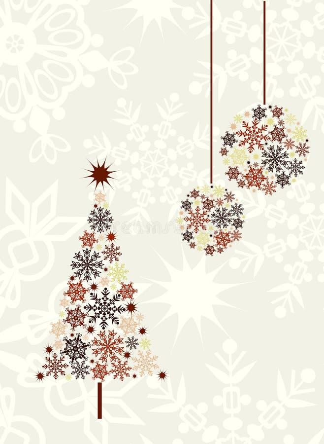 Fundo da árvore de Natal, vetor ilustração royalty free