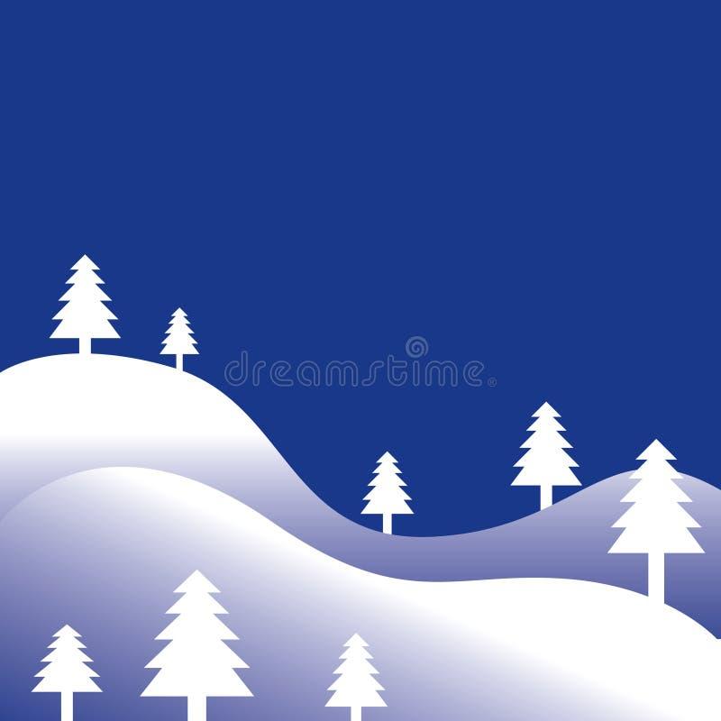 Fundo da árvore de pinho do inverno ilustração royalty free