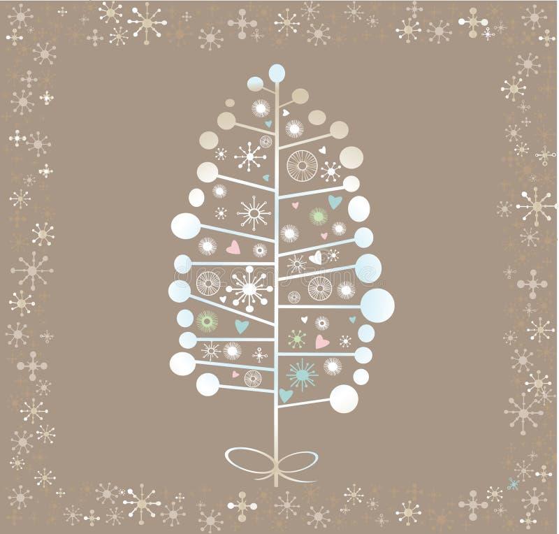 Fundo da árvore do inverno imagem de stock