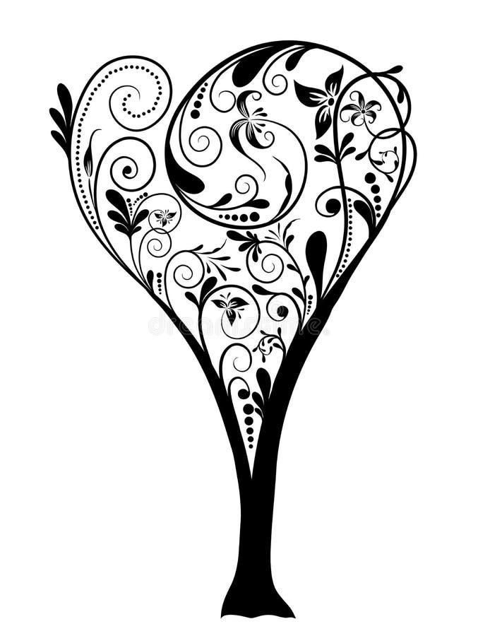 Download Fundo Da árvore Dos Valentim, Vetor Ilustração do Vetor - Ilustração de flor, desenhos: 12813316
