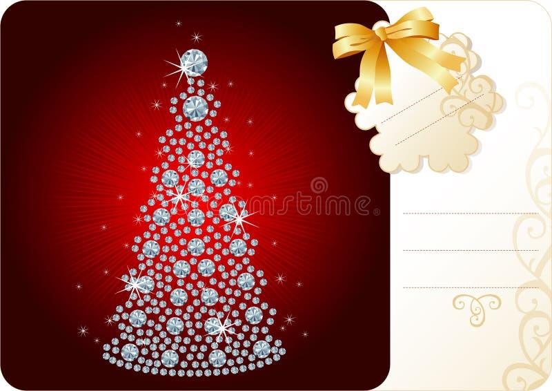 Fundo da árvore/feriado de Natal do diamante ilustração do vetor