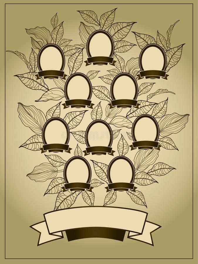 Fundo da árvore genealógica ilustração do vetor