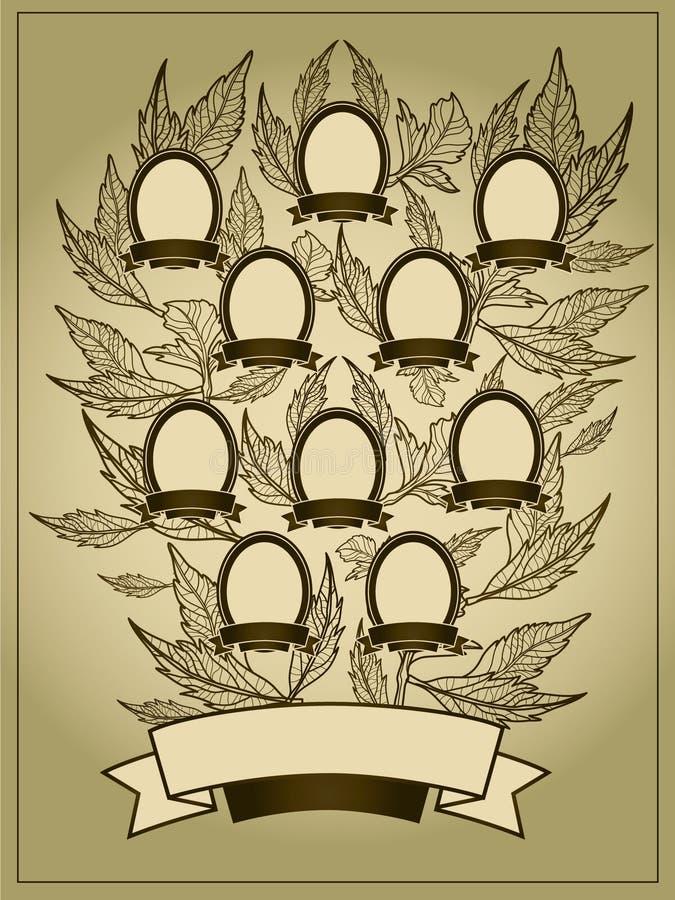Fundo da árvore genealógica ilustração royalty free