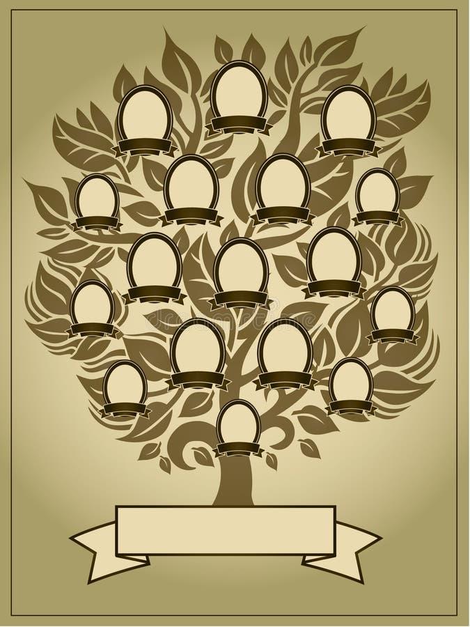 Fundo da árvore genealógica ilustração stock