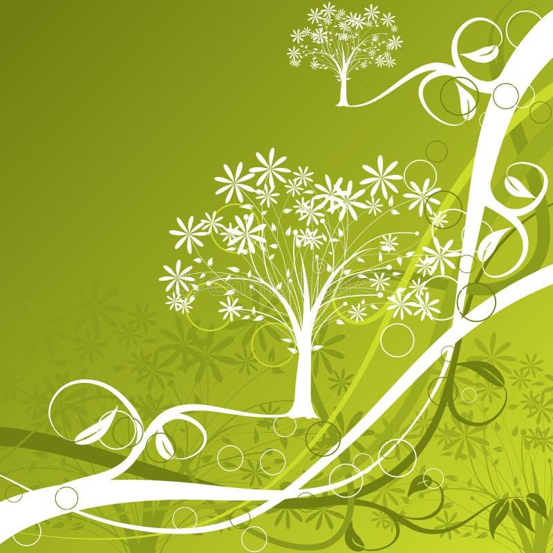 Fundo da árvore, vetor ilustração stock