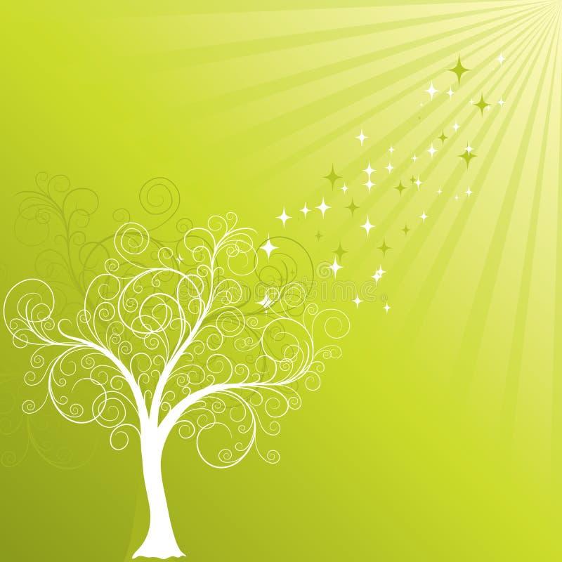 Fundo da árvore, vetor ilustração royalty free