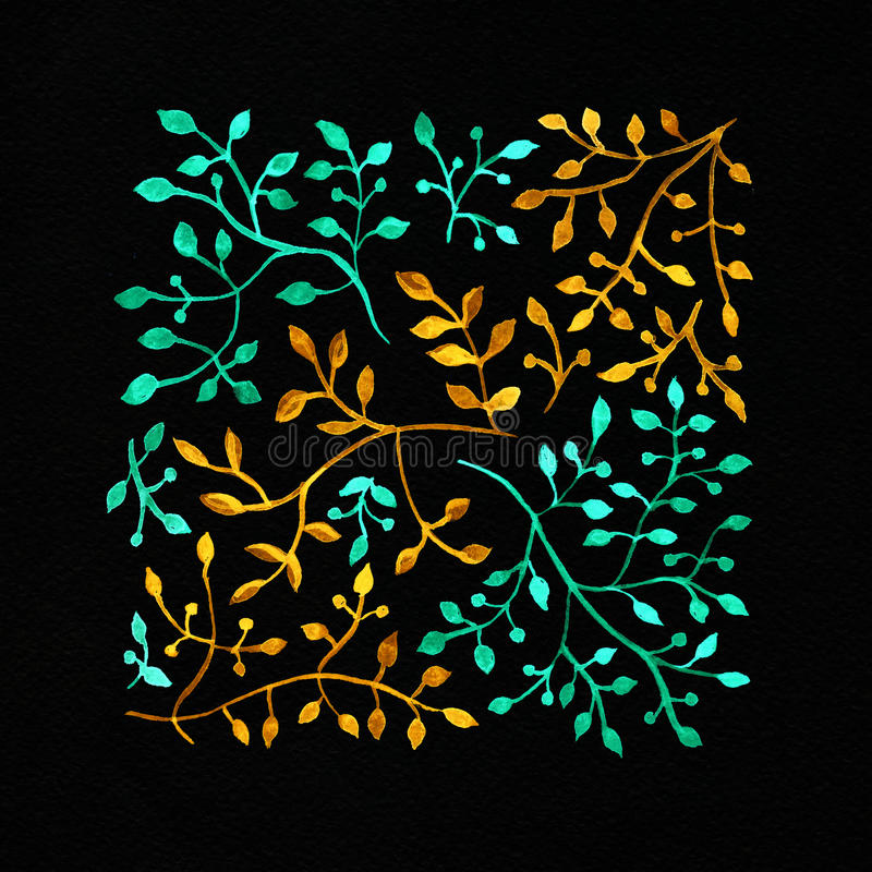 Fundo da aguarela Imagem da flor Flores em uma SU impressionante imagens de stock