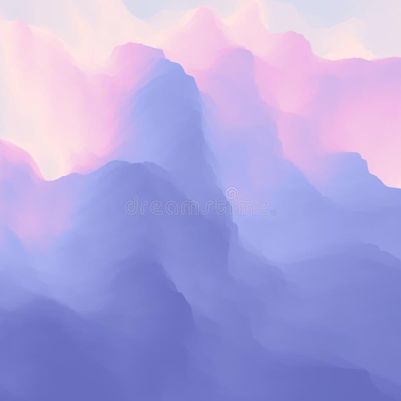 Fundo da alfazema Teste padr?o do Lilac Molde para o projeto Ilustra??o do vetor ilustração stock
