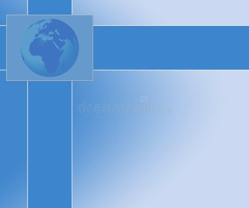 Fundo da apresentação do globo ilustração royalty free