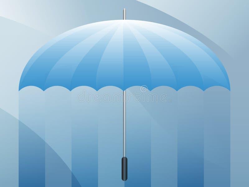 Fundo da apresentação em branco do guarda-chuva ilustração stock