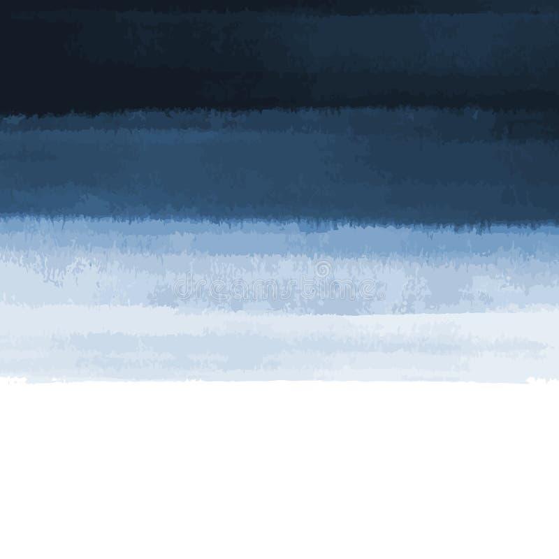 Fundo da aquarela dos azuis marinhos do sumário do vetor com textura do grunge Ilustra??o pintado ? m?o do vetor ilustração royalty free