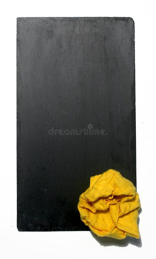 Fundo da ardósia em branco imagem de stock