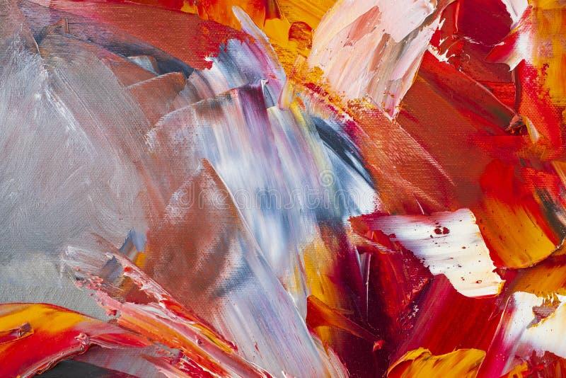 Fundo da arte abstrata Pintura a óleo na lona Decoração, colo ilustração do vetor