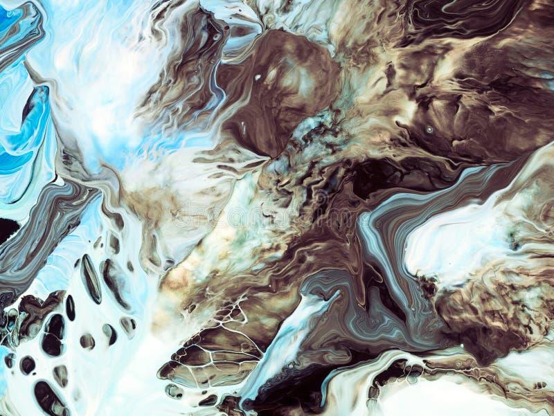 Fundo da arte abstrata Pintura a óleo na lona Fragmento da arte finala Pontos da pintura de óleo Arte moderna Arte contemporânea ilustração stock