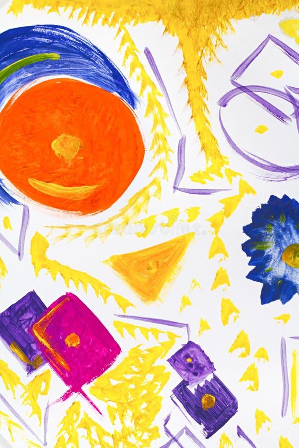 Fundo da arte abstrata Pintura a óleo na lona Textura brilhante colorido Fragmento da arte finala Pontos da pintura de óleo brush ilustração do vetor
