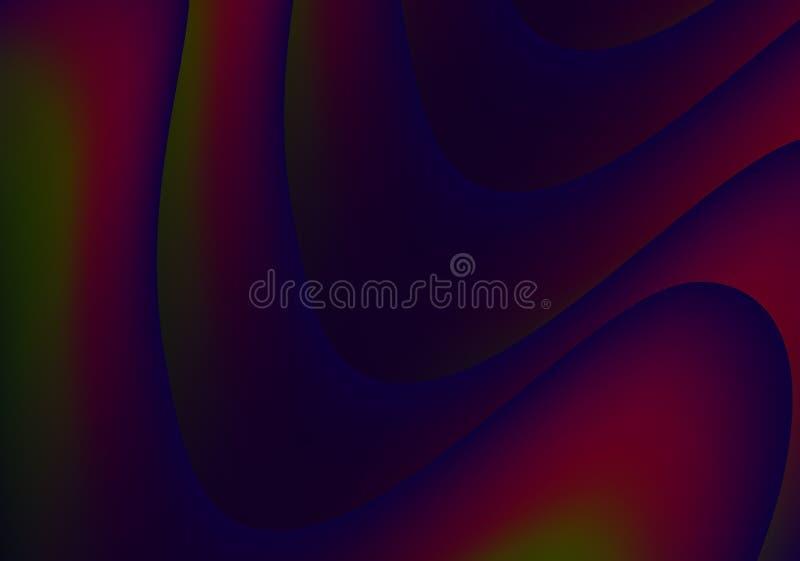 Fundo da arte do Fractal, fundo abstrato vermelho da textura ilustração royalty free