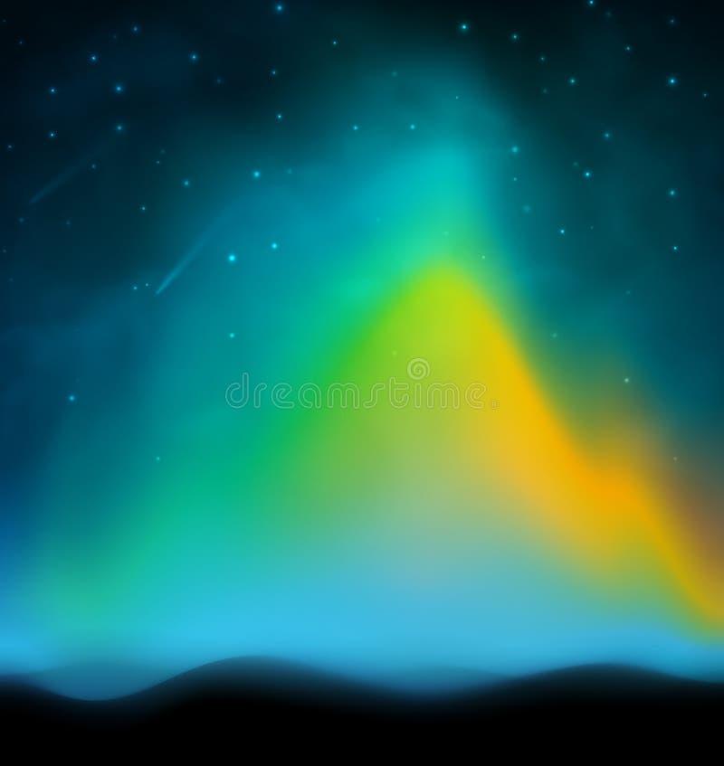Fundo da Aurora ilustração royalty free