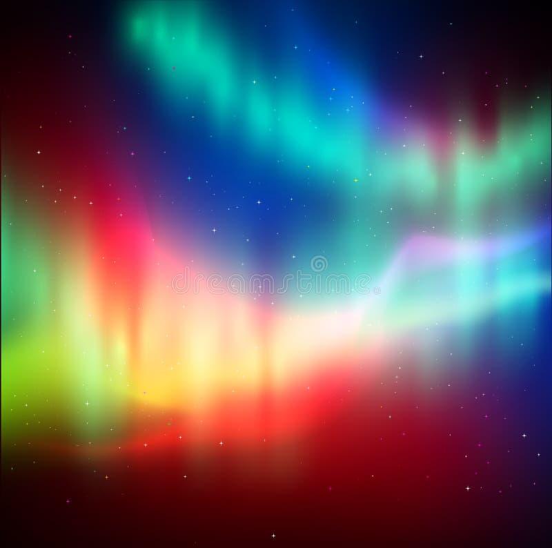 Fundo da aurora boreal ilustração do vetor
