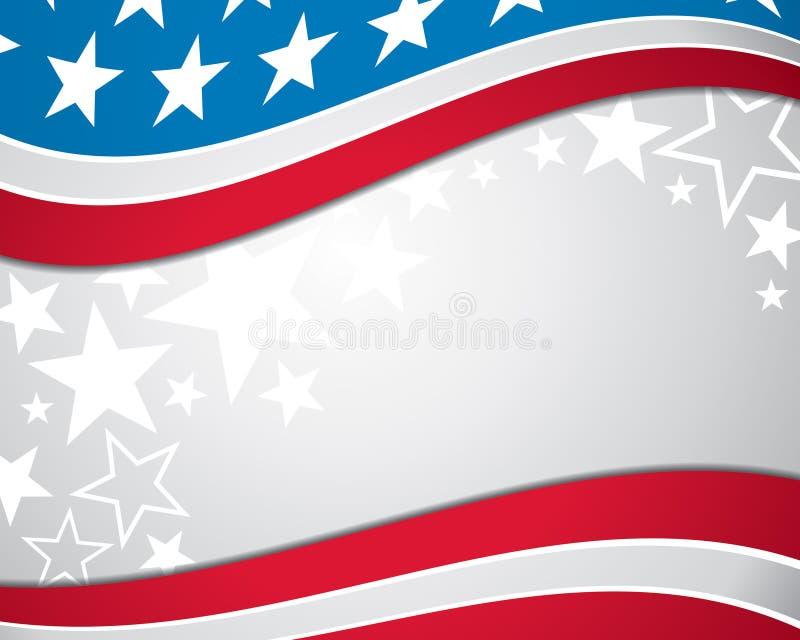 Fundo da bandeira americana ilustração do vetor