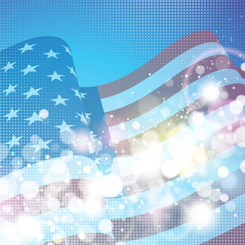 Fundo da bandeira americana ilustração stock