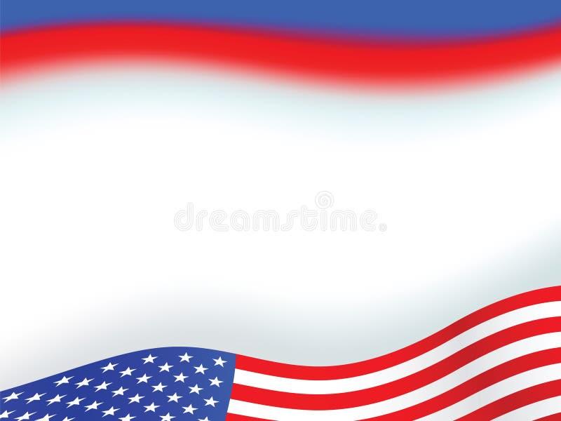 Fundo da bandeira americana ilustração royalty free
