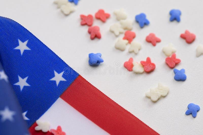 Fundo da bandeira americana para Memorial Day imagem de stock