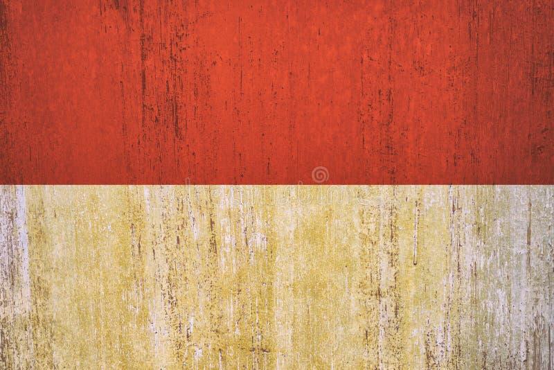 Fundo da bandeira de Indonésia no estilo do vintage ilustração royalty free