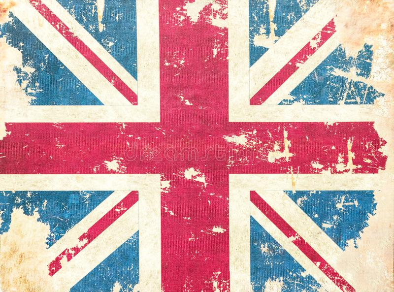 Fundo da bandeira de Reino Unido do grunge do vintage textured imagens de stock royalty free