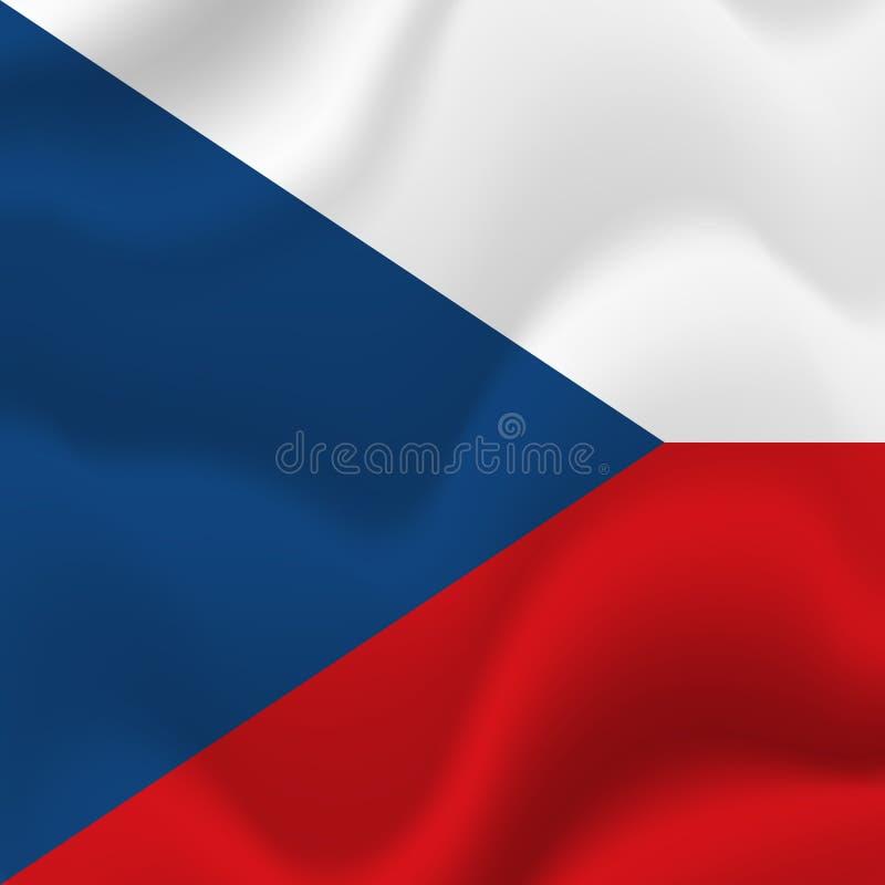 Fundo da bandeira de República Checa Vetor ilustração royalty free
