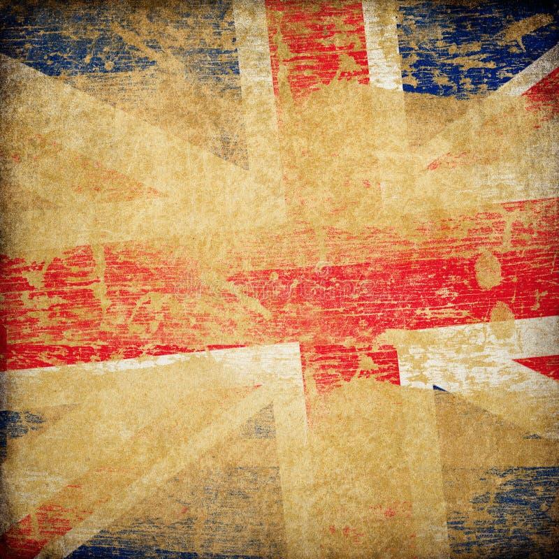 Fundo da bandeira do grunge de Inglaterra. ilustração royalty free