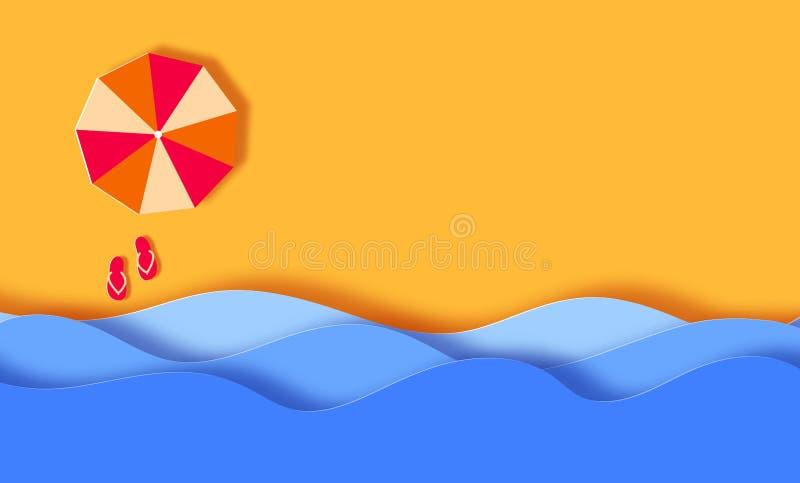 Fundo da bandeira do verão, praia ilustração royalty free