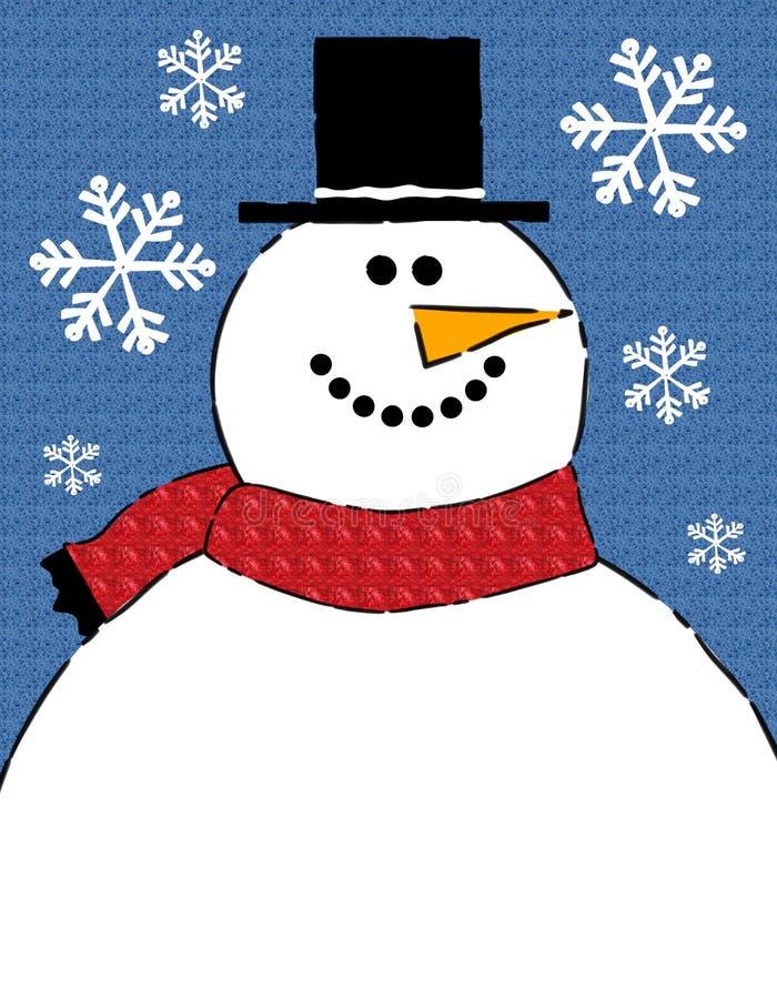 Fundo da beira do boneco de neve ilustração royalty free