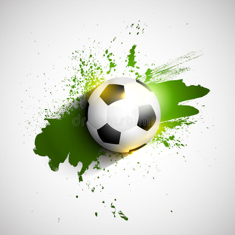 Fundo da bola do futebol/futebol do Grunge ilustração royalty free