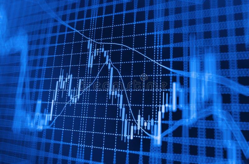 Fundo da bolsa de valores da finança ilustração royalty free