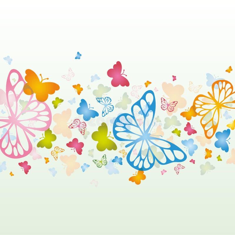 Fundo da borboleta ilustração stock