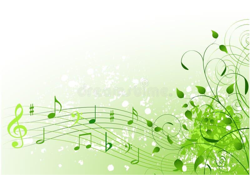 Fundo da canção da mola ilustração stock