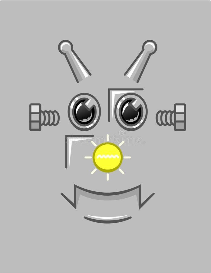 Fundo da cara do robô dos desenhos animados ilustração royalty free
