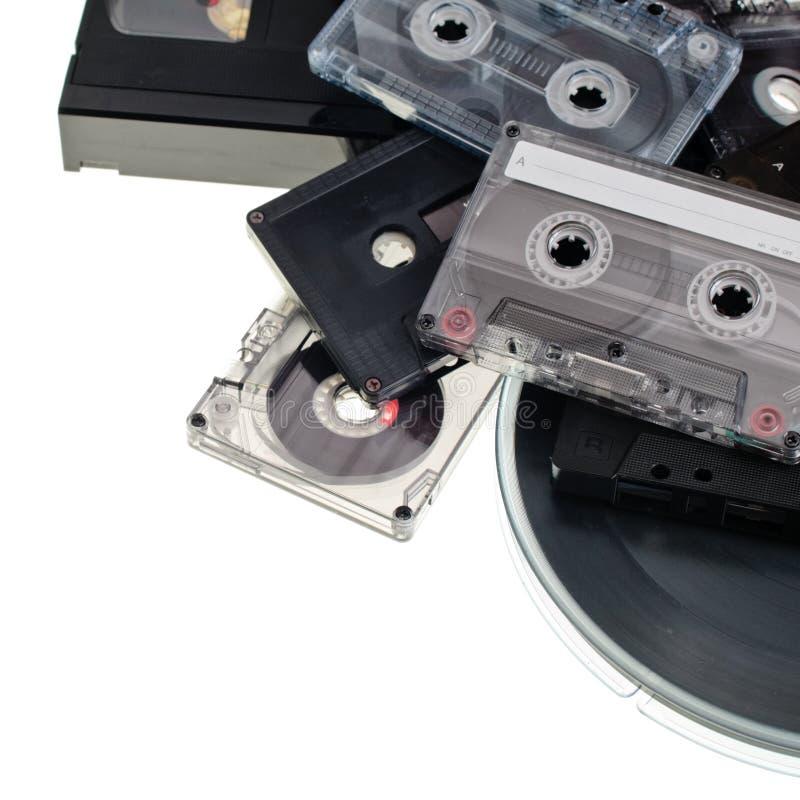 Fundo da cassete áudio imagens de stock